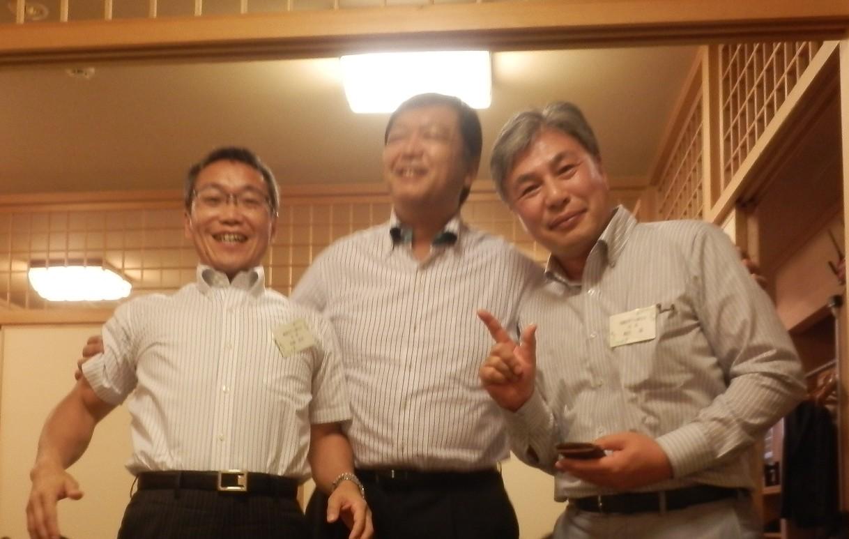 外崎会長と寺本会長と青田会長